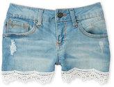 Vigoss Girls 7-16) Crochet Edge Shorts