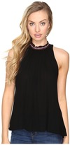 BB Dakota Nettle Ribon Trim Gathered Tank Top