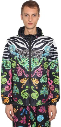 Versace Jeans Couture Reversible Hooded Printed Ripstop Jacket