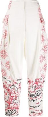 Stella McCartney Sun Motif Tapered Trousers
