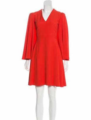 Alexander McQueen Mini Flounce Dress Terracotta