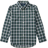 Ralph Lauren Long-Sleeve Plaid Cotton Poplin Shirt, Size 2-7