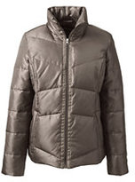 Lands' End Women's Petite Down Jacket-Muted Graphite