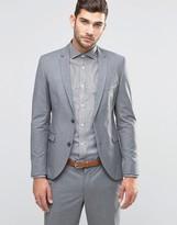 Jack and Jones Skinny Suit Jacket in Gray