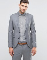 Jack & Jones Premium Skinny Suit Jacket In Grey