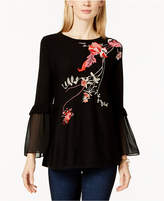Alfani Embroidered Tunic Sweater Available in Regular & Petite Sizes, Created For Macy's