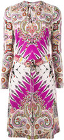 Etro abstract print drawstring dress