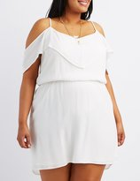 Charlotte Russe Plus Size Cold Shoulder Dress