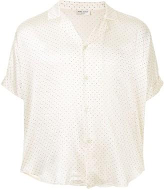 Saint Laurent Polka Dot Pyjama-Style Shirt