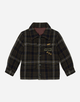 Dolce & Gabbana Single-Breasted Check Broadcloth Coat