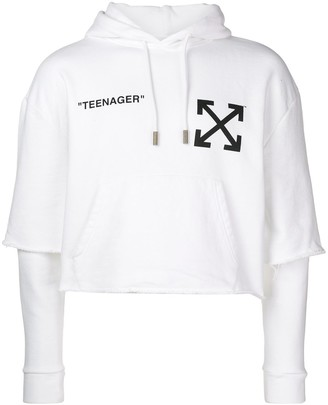 Off-White flamed Bart hoodie