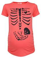 Happy Mama Boutique Happy Mama. Womens Maternity Halloween Baby Skeleton Print Top T-shirt. 085p