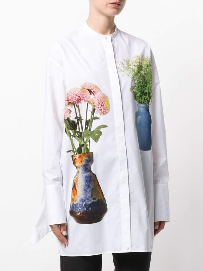 Ports 1961 flower and vase long shirt