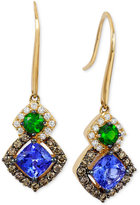 LeVian Le Vian Chocolatier® Neo GeoTM Multi-Gemstone (1-1/4 ct. t.w.) and Diamond (1/2 ct. t.w.) Drop Earrings in 14k Gold, Only at Macy's