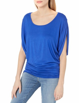 Paper + Tee Women's Scoop Neck Dolman Sleeve Knit Top