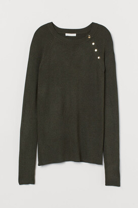 H&M Ribbed Sweater - Green