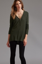 Dynamite Zip Front High Low Sweater