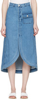 See by Chloe Indigo Denim Skirt