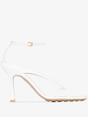 Bottega Veneta Square Toe 90mm Strappy Sandals