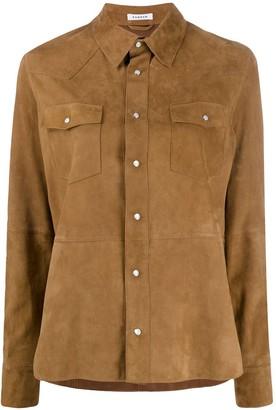 P.A.R.O.S.H. Suede Chest Pocket Shirt