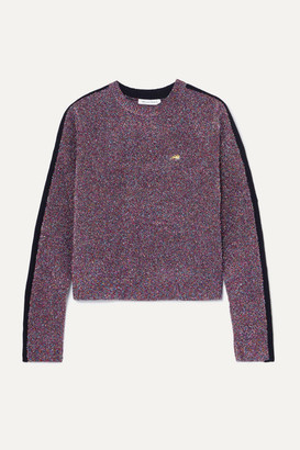 Bella Freud Teeny Bopper Metallic Knitted Sweater - Purple