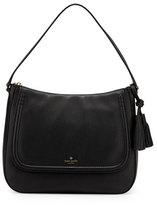 Kate Spade Orchard St. Treana Leather Shoulder Bag, Black/Cream