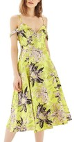 Topshop Women's Floral Jacquard Midi Dress