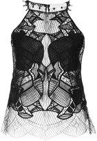 Jonathan Simkhai halterneck lace top - women - Nylon - XS