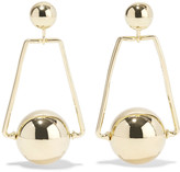 Noir Axis gold-tone earrings