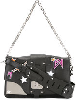 Versace Rock Star patch Stardvst bag - women - Leather/Virgin Wool/Viscose/Cashmere - One Size