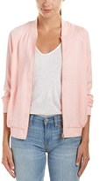 Lucca Couture Satin Bomber Jacket.