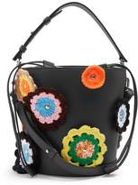 J.W.Anderson Bucket crochet-appliqué leather and canvas tote