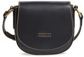 Frye Small Harness Calfskin Leather Saddle Bag - Black