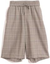 R 13 Baggy Short in Grey Plaid