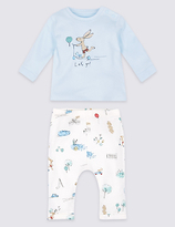 Marks and Spencer 2 Piece Pure Cotton Top & Bottom Outfit