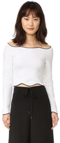 Cédric Charlier Cropped Long Sleeve Sweater