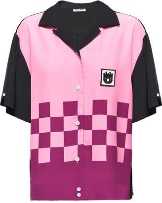 Miu Miu Checkered-Detail Shirt