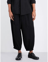 Yohji Yamamoto Relaxed-fit Mid-rise Gabardine Trousers