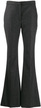 Alexander McQueen Flared Mid-Rise Trousers