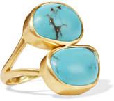 Pippa Small 18-karat Gold Turquoise Ring