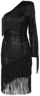 Dundas Fringed lace minidress