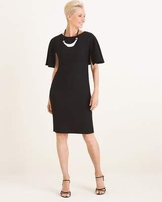 Chico's Chicos Cape-Sleeve Dress