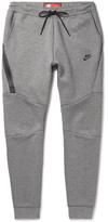Nike Slim-fit Tapered Cotton-blend Tech Fleece Sweatpants - Gray
