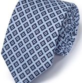 Charles Tyrwhitt Sky and navy linen classic chambray tie