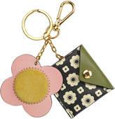 Orla Kiely Flower Foulard Purse Key Ring - Black/Cream