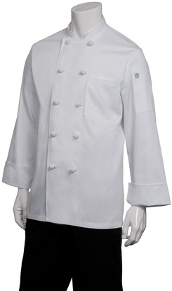 Chef Works Men's Colmar Chef Coat (CBCC) White