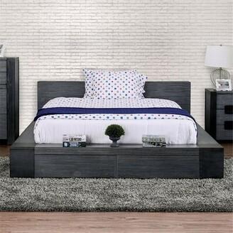 Mutsumi Home Studio Pearce Platform Bed W/2 Storage Drawers Size: California King, Color: Gray