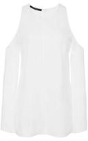 Wes Gordon Cotton Shirting Open Shoulder Top