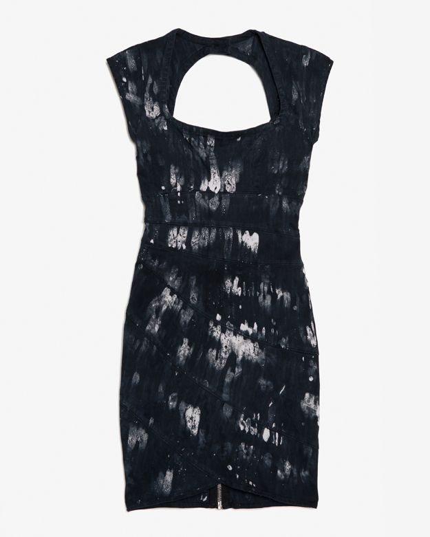 Kelly Wearstler Spirula Cap Sleeve Printed Dress