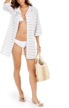 Dotti Radiance Striped Shirtdress Cover-Up Women's Swimsuit